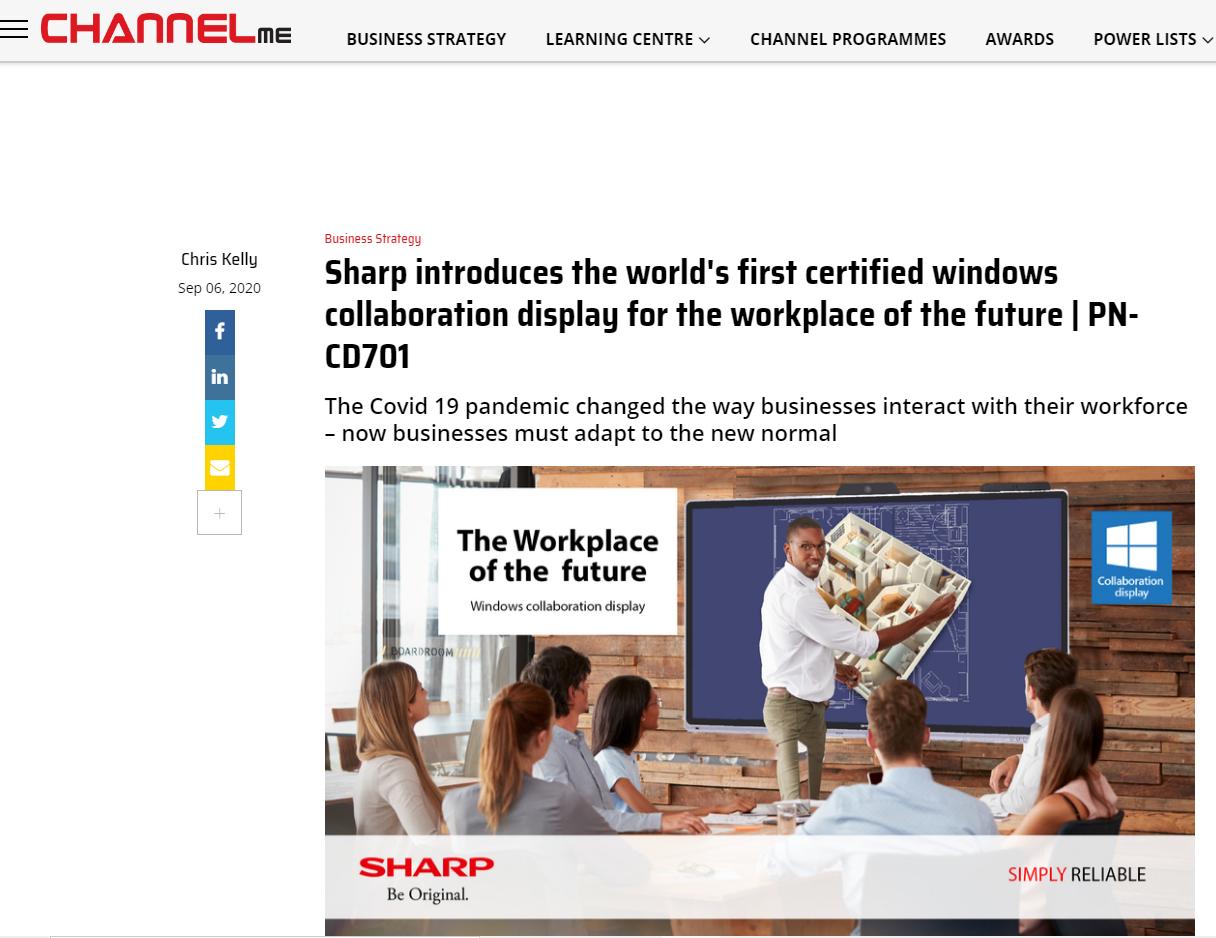 PN-CD701 windows display collaboration